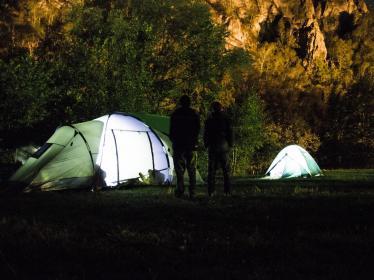 Ночевка в палатках в горах Башкирии