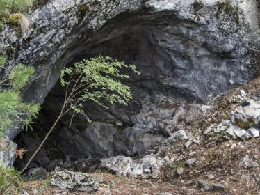 Вход в пещеру Ледовая