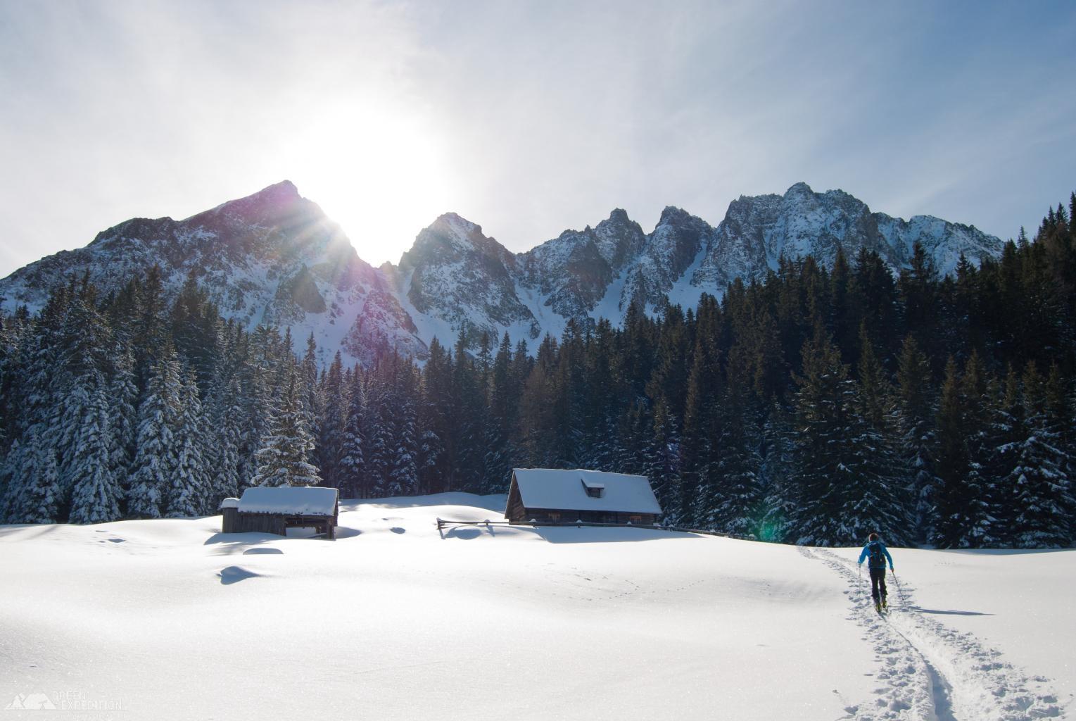 Активный отдых зимой - лыжний поход